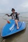 Aieng with the jetski