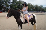 Horseback-riding. Feel like the most beautiful girl at the beach for THB200.