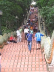 Up the Stairs to Wat Phrathat - Workout!