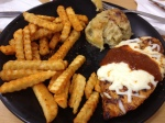 Cajun chicken with fries and double-baked cheese potato | Botak Jones