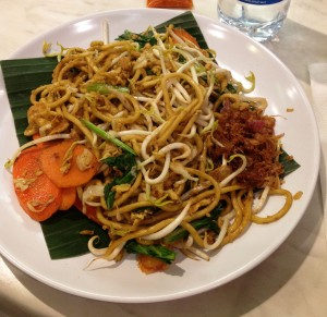 Mie Goreng Vegetarian at Chopstix - Grand Indonesia (Very nice service)