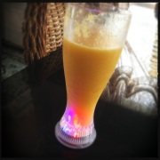 Peach + Mango | My tumbler has twinkly lights!
