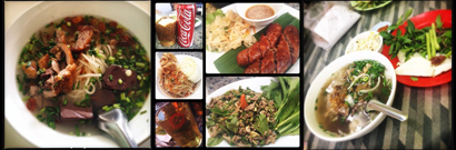 (L-R) Khao piek at Dongpalan, Khop Chai Der Musts, Pho Zap